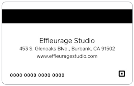 Effleurage Studio Gift Card - Back